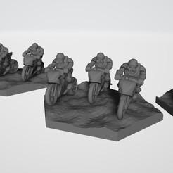 Télécharger fichier STL gratuit Motos d'infanterie motorisées Battletech • Modèle à imprimer en 3D, kiwicolourstudio