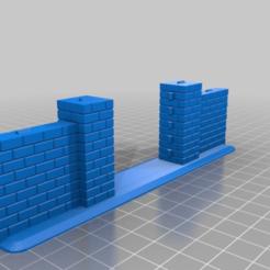 Descargar modelos 3D gratis Muro de ladrillo con puerta de hierro, kiwicolourstudio