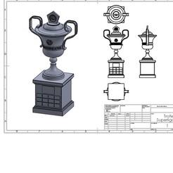 Télécharger plan imprimante 3D Trophée SAF complet, federicoandrades