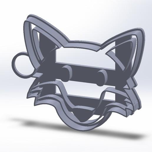 Download 3D printing models Fierce Wolf emoji Slicing Cookies, federicoandrades