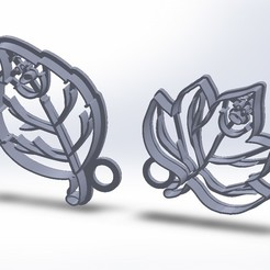 Download 3D printer designs Funny Cut Tree Leaves Cookies, federicoandrades