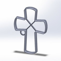 CruzCutterCookie.JPG Télécharger fichier STL Cutter Cookie Croix Catholique • Design pour imprimante 3D, federicoandrades