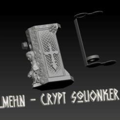 "ZBrush Document.png Download STL file Squonk Mech Mod ""Mehn - Crypt"" • 3D print design, JuanCruzGuimil-OnaModsBF"