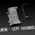 "Descargar archivo 3D Squonk Mech Mod  ""Mehn - Crypt"" , JuanCruzGuimil-OnaModsBF"