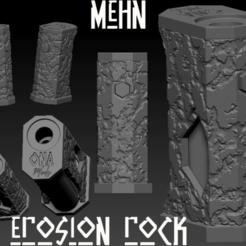 "Descargar modelos 3D Squonk Mech Mod  ""Mehn"" and ""Mehn Erosion-Rock"", JuanCruzGuimil-OnaModsBF"