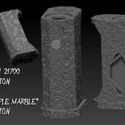 "ZBrush Document Simple maarble.png Download OBJ file SQUONK MECH MOD ""MEHN"" 21700 VERSION. ""SIMPLE MARBLE"" EDITION • 3D printer model, JuanCruzGuimil-OnaModsBF"