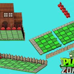 Descargar archivo STL Plants vs Zombies Backyard Board Game • Diseño para imprimir en 3D, JuanCruzGuimil-OnaModsBF