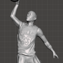 Download 3D printing templates Michael Jordan - High Res, vongoladecimo