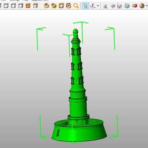 3D printer models Cordouan Lighthouse, 3DLOUIS