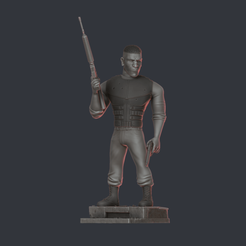 3D printer models The Punisher, supahero