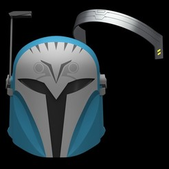 bokatan04.JPG Download STL file Bo Katan Helmet & Headband from The Mandalorian • 3D printing design, sentinel_props