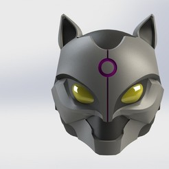 Download free 3D printing designs Catwoman Motorcycle Helmet inspired by XM Studios, sentinel_props