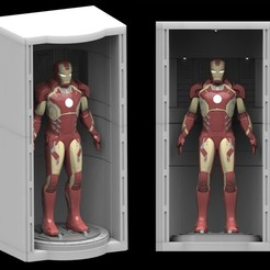 Download 3D printer model Iron Man House Party Protocol Hall of Armor 3d Printable stand STL, sentinel_props