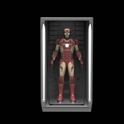 Download STL 1/6 Scale Iron Man Hall of Armor, sentinel_props