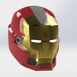 Download free 3D printer designs Iron Man Red Snapper helmet, sentinel_props