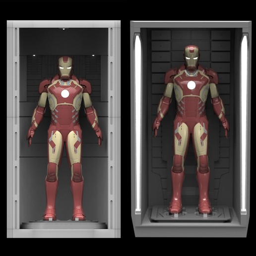 Download 3D printer files 1/6 Hall of Armor Combo Pack, sentinel_props