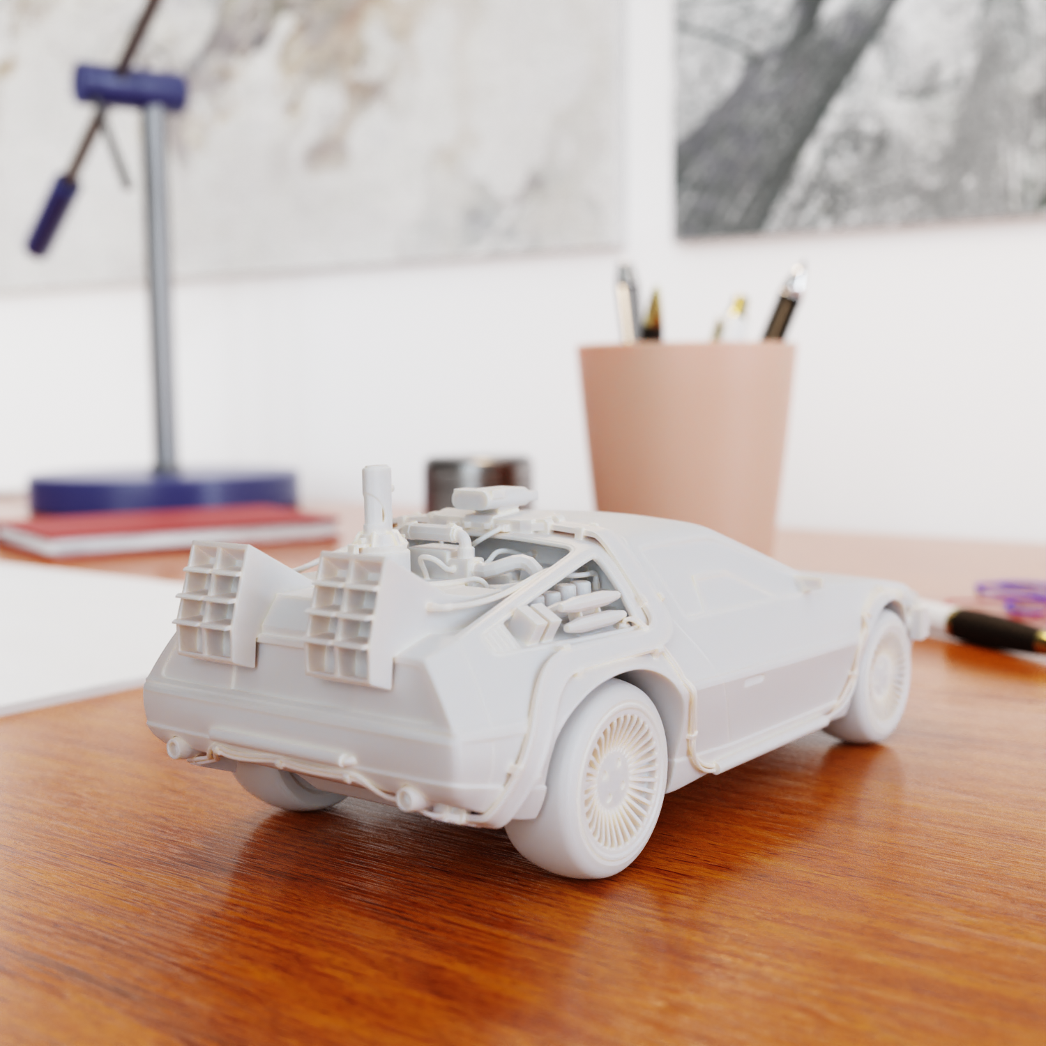 11.png Download STL file Time Machine DeLorean DMC-12 from Back to the future • 3D printing model, Alessandro_Palma
