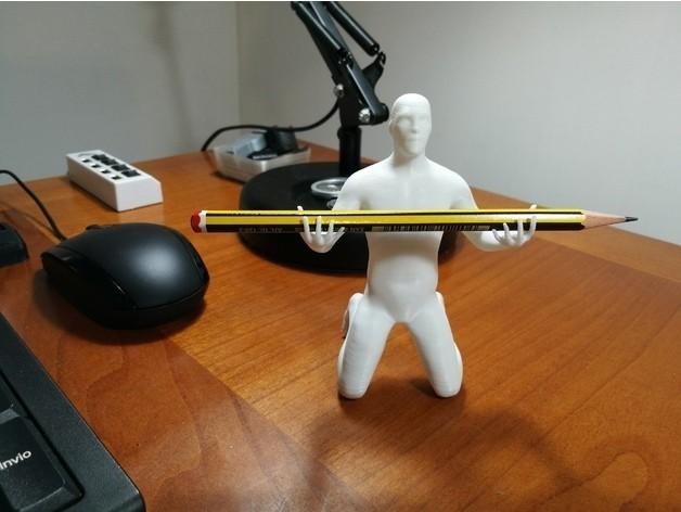 3fc3bd8d65c62b77d29c63e23f3b6220_preview_featured.jpg Download OBJ file Human pen holder V2.0 • 3D printing template, Alessandro_Palma