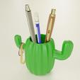 Download 3D print files Cactus desktop organizer, Alessandro_Palma