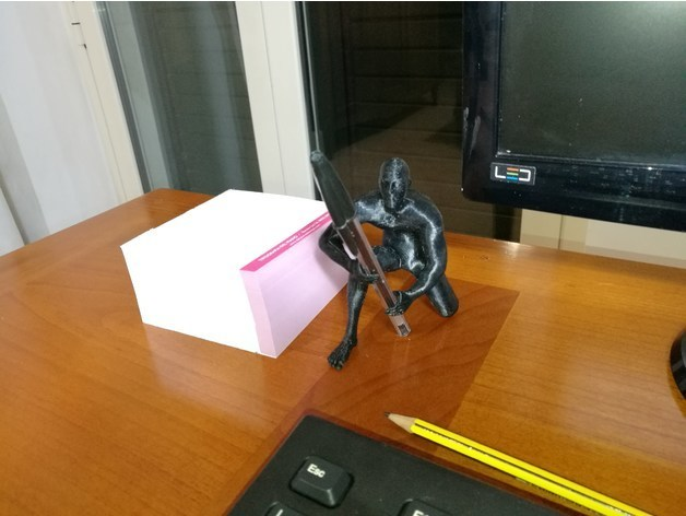 4c0b4d33e4ed39ce77877bb14e826009_preview_featured.jpg Download OBJ file Human pen holder V1.0 • 3D printer template, Alessandro_Palma