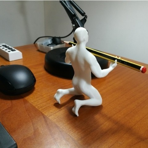 3464736299ae0cf93e2a05abefcdee69_preview_featured.jpg Download OBJ file Human pen holder V2.0 • 3D printing template, Alessandro_Palma