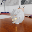 Download 3D print files Cute owl lucky charm, Alessandro_Palma