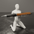 Download STL Human pen holder V3.0, Alessandro_Palma
