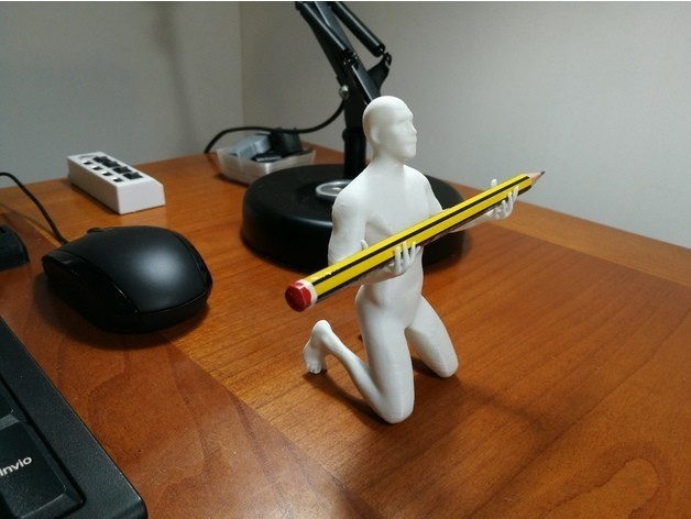 d9529827cff8f47b565d6b28d5a064cf_preview_featured.jpg Download OBJ file Human pen holder V2.0 • 3D printing template, Alessandro_Palma