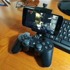 Download free 3D model Universal smartphone mount for DUALSHOCK 3 (PS3 controller), Alessandro_Palma