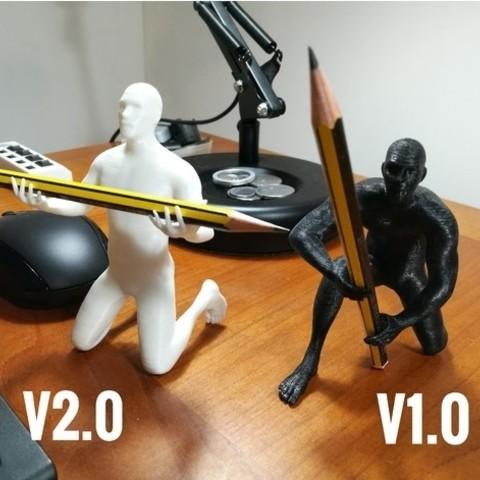 d728d96065f66969ce8a316866b15fd5_preview_featured.jpeg Download OBJ file Human pen holder V1.0 • 3D printer template, Alessandro_Palma