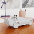 12.png Download STL file Time Machine DeLorean DMC-12 from Back to the future • 3D printing model, Alessandro_Palma
