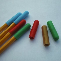 IMG_2307.JPG Download STL file Pencil Caps (Lead Protectors) • 3D printing model, amarkin