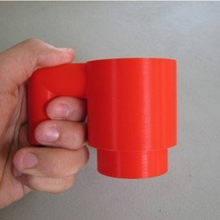 Free 3d printer model Giant Lego Cup, amarkin