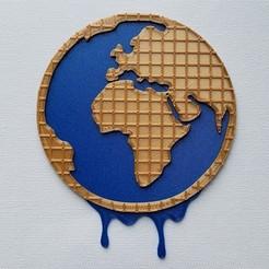 Télécharger plan imprimante 3D gatuit Logo Stroopwafel World et un dessous de verre stroopwafel, friezechris