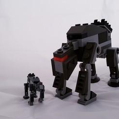 Archivos 3D gratis Lego AT AT Walker 3x Escala, friezechris