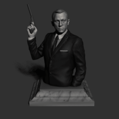 Descargar modelo 3D 007 Busto de James Bond, leandroverdertv