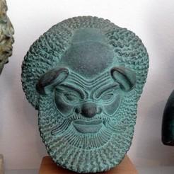 Modelos 3D gratis Busto de Sátiro Griego, history3Dprint