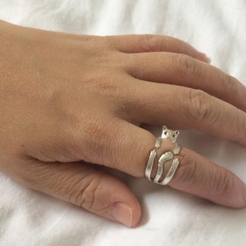 product_image_10938.jpg Download free STL file Cute Cat Ring • 3D print design, KiDanielGust3