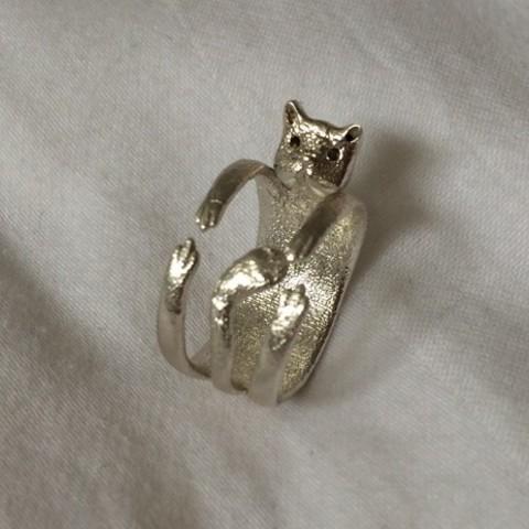 product_image_10937.jpg Download free STL file Cute Cat Ring • 3D print design, KiDanielGust3