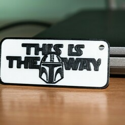 DSC_0250.jpg Download STL file Mandalorian This is the way Keychain • Model to 3D print, Crafts_ineer