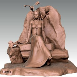 3D printer files Daenerys Khaleesi Game of Thrones figurine, Hawo