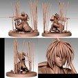 3D print files Kenshin Himura Battosai figurine, Hawo