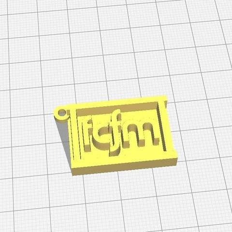 Download free 3D printing designs Key ring FCFM Universidad de Chile, RoboteamChile