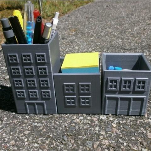 Télécharger modèle 3D gratuit Organisateurs de fournitures de bureau, saya