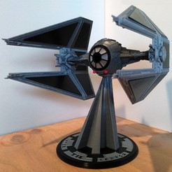 stl file STAR WARS TIE INTERCEPTOR – Highly detailed & fully printable – Cockpit & openable hatch – With instructions, mochiczuki