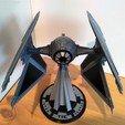Modelos 3D para imprimir INTERCEPTOR STAR WARS TIE - Ultra detallado y totalmente imprimible - Cockpit y esclusa de apertura - Con Aviso, mochiczuki