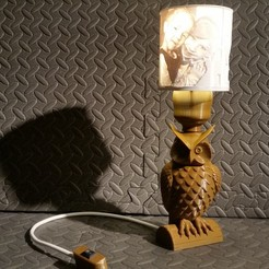 Download STL files Owl Lamp Litophane E27 bulb, SPecBut