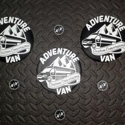 Download free STL files Mercedes Benz logo replace Adventure Van Camper, SPecBut