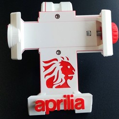 Download 3D printing templates Aprilia motorcycle phone mount, SPecBut