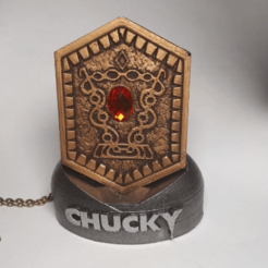 Finished.png Télécharger fichier STL Amulette Chucky Heart of Damballa avec support Kit de maquette • Modèle imprimable en 3D, 3rdDimensionProps